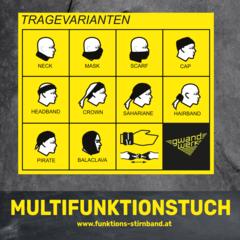 Multifunktionstuch Tragevarianten Tirol