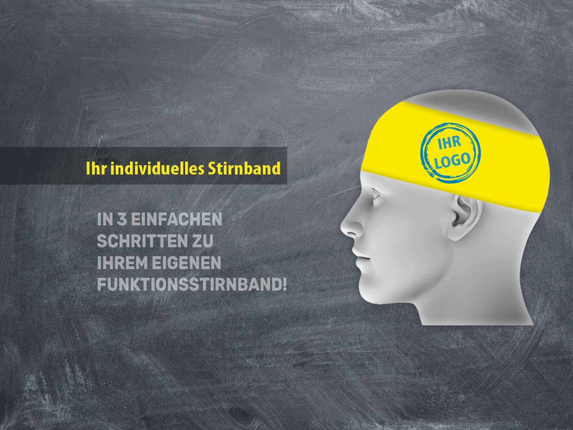 Funktionsstirnband mit Logo- Schlauchtuch mit Logo
