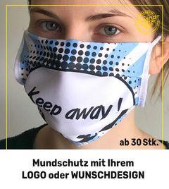 Mundschutz mit Logo oder Wunschdesign